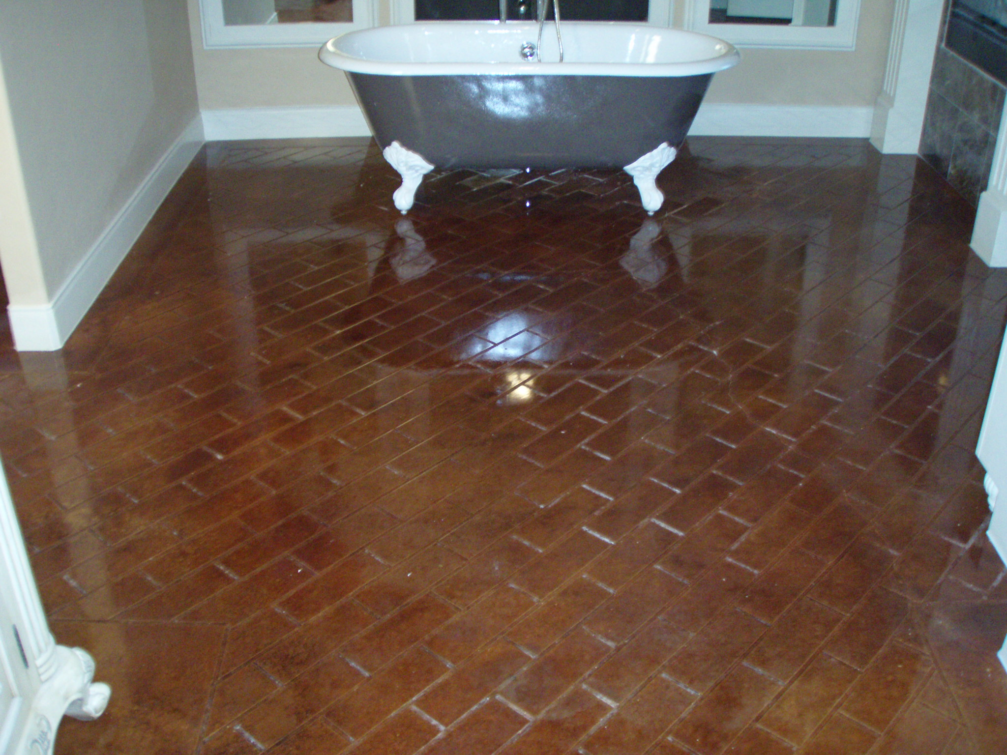 Stained Concrete And Scored Concrete